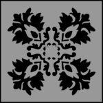 Stencil 4 leaf patten