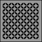 Stencil circle pattern