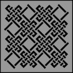 Stencil square pattern