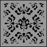 Stencil tin tile